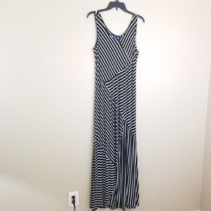 Apartment 9 Black and white striped maxi dress 2XL